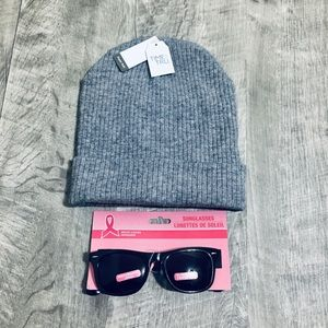 Time & Tru Beanie & Breast Cancer Awareness Shades
